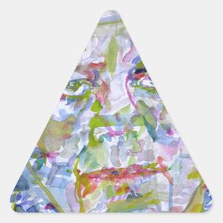 john fitzgerald kennedy - watercolor portrait.1 triangle sticker