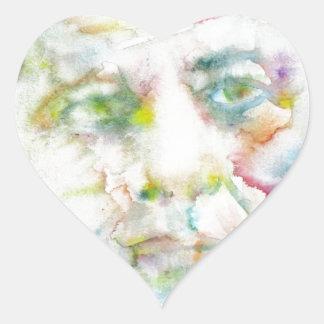 john fitzgerald kennedy - watercolor portrait.2 heart sticker