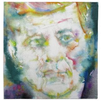 john fitzgerald kennedy - watercolor portrait.2 napkin