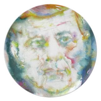 john fitzgerald kennedy - watercolor portrait.2 plate