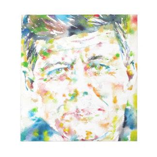 john fitzgerald kennedy - watercolor portrait.3 notepad