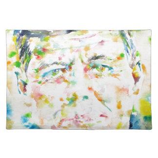 john fitzgerald kennedy - watercolor portrait.3 placemat