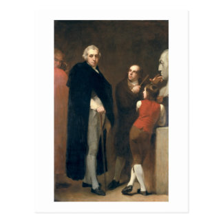 John Flaxman (1755-1826) modelling his bust of Wil Postcard