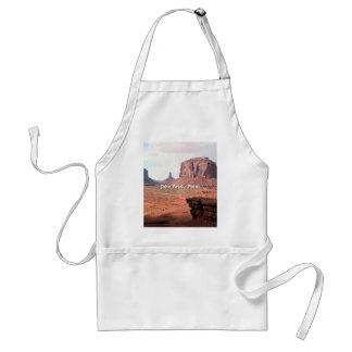 John Ford's Point, Monument Valley, Utah (caption) Standard Apron
