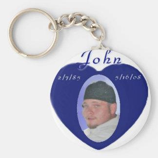 John Frezza Memorial Items Basic Round Button Key Ring
