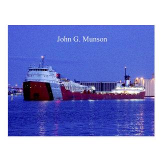 John G. Munson dusk postcard