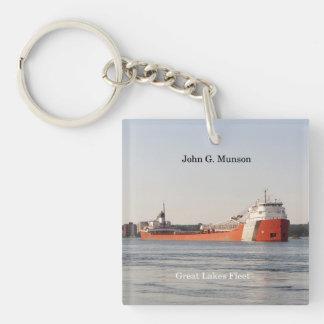 John G. Munson key chain