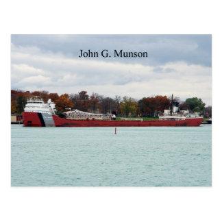 John G. Munson Port Huron postcard