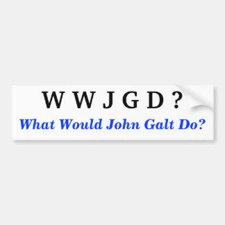 John Galt Bumper Sticker Car Bumper Sticker