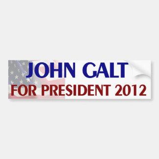 John Galt for President Car Bumper Sticker