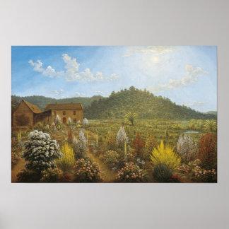 John Glover -Artist's house + garden, Mills Plains Poster