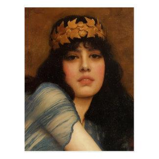John Godward- Head of a Girl Postcard
