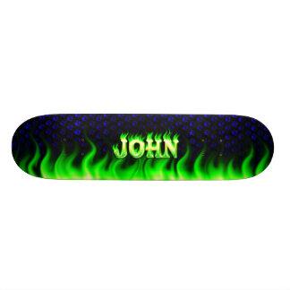 John green fire Skatersollie skateboard.