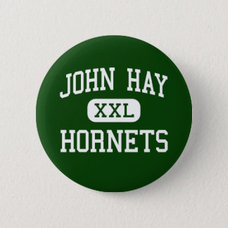John Hay - Hornets - High School - Cleveland Ohio 6 Cm Round Badge