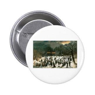 John Inman Moonlight Skating-Central Park Pin