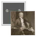 John Jay, engraved by Asher Brown Durand (1796-188 15 Cm Square Badge