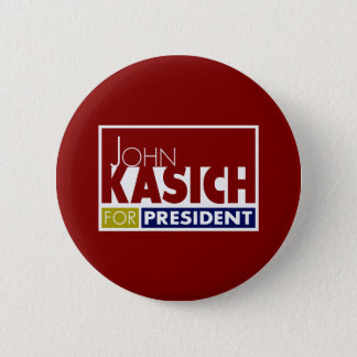 John Kasich for President V1 6 Cm Round Badge