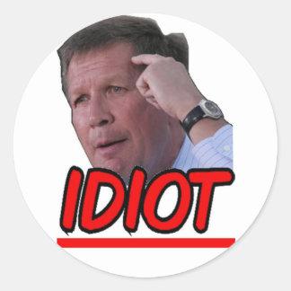 John Kasich - Idiot Ohio Governor Round Sticker