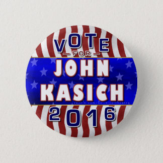 John Kasich President 2016 Election Republican 6 Cm Round Badge