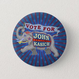 John Kasich President 2016 Republican Elephant V2 6 Cm Round Badge