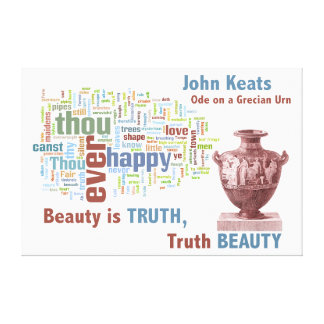 John Keats Ode on a Grecian Urn Poetry Word Cloud Canvas Print
