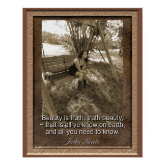 John Keats Quote - Art Print - Beauty is truth