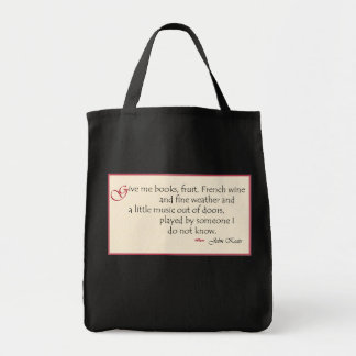 John Keats quote bag