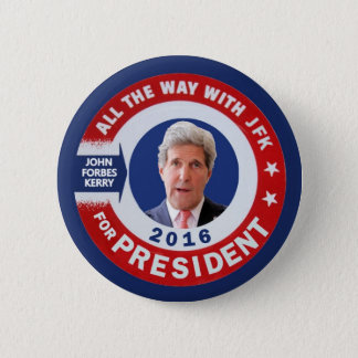 John Kerry for President 2016 6 Cm Round Badge