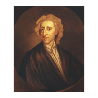 John Locke by Sir Godfrey Kneller Canvas Print