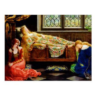 John Maler Collier Sleeping Beauty Postcard