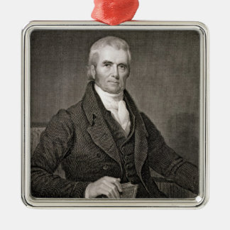 John Marshall (1755-1835), engraved by Asher Brown Metal Ornament