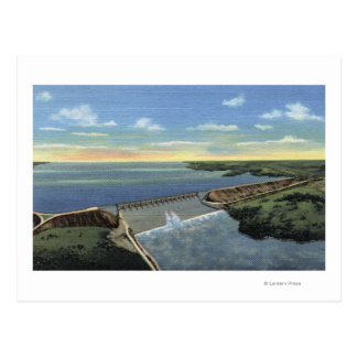 John Martin (Caddoa) Dam across Arkansas River Postcard