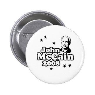 JOHN MCCAIN 2008 T-SHIRT BUTTONS