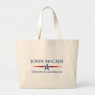 John McCain Character We Can Believe In Large Tote Bag