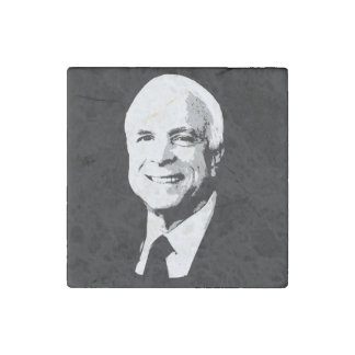 John McCain Face Stone Magnet