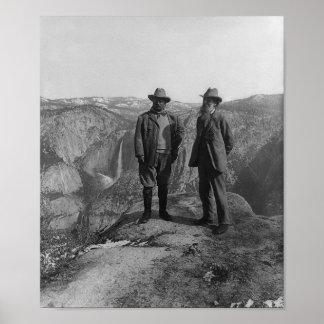 John Muir and Teddy Roosevelt Poster