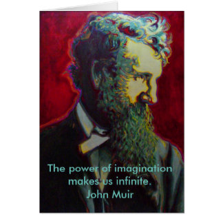 John Muir Naturalist Blank Greeting Card Nature