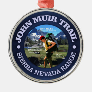 John Muir Trail (Hiker C) Metal Ornament