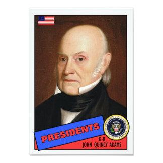 "John Quincy Adams Baseball Card 3.5"" X 5"" Invitation Card"