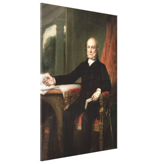 JOHN QUINCY ADAMS by George Peter Alexander Healy Stretched Canvas Prints