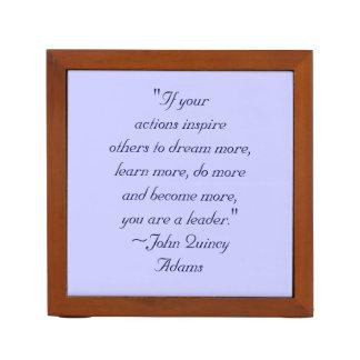 John Quincy Adams Leadership Quote Pencil Holder