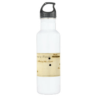 John Quincy Adams ORIGINAL Signed Check 710 Ml Water Bottle