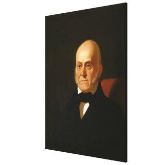JOHN QUINCY ADAMS Portrait by George Caleb Bingham Canvas Prints