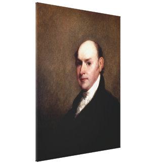 JOHN QUINCY ADAMS Portrait by Gilbert Stuart Print Gallery Wrap Canvas