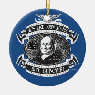 John Quincy Adams Presidential Campaign Ceramic Ornament