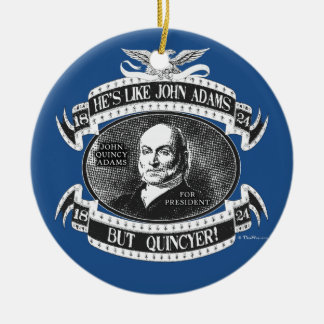 John Quincy Adams Presidential Campaign Round Ceramic Decoration