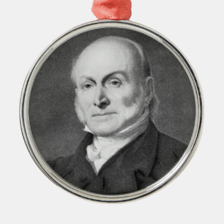 John Quincy Adams Silver-Colored Round Decoration