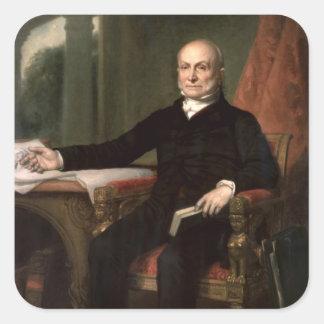 John Quincy Adams Square Sticker