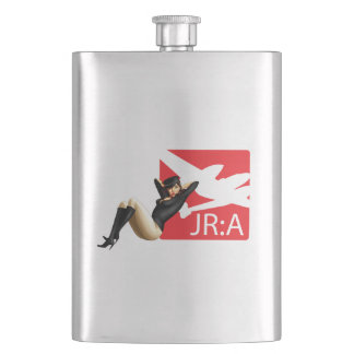 'John Ross: American' Pinup Girl Flask