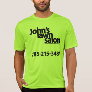 John's Lawn Salon biking shirt. T-Shirt